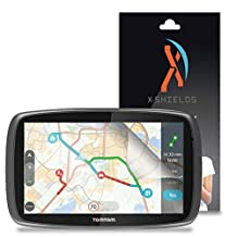 "XShields© High Definition (HD+) Screen Protectors for TomTom Go 60 6"" SatNav (Maximum Clarity) Super Easy Installation [3-Pack] Lifetime Warranty, Advanced Touchscreen Accuracy"