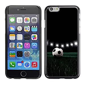 Qstar Arte & diseño plástico duro Fundas Cover Cubre Hard Case Cover para Apple (5.5 inches !!!) iPhone 6 Plus ( Football Stadium Night Lamps Lights Game)