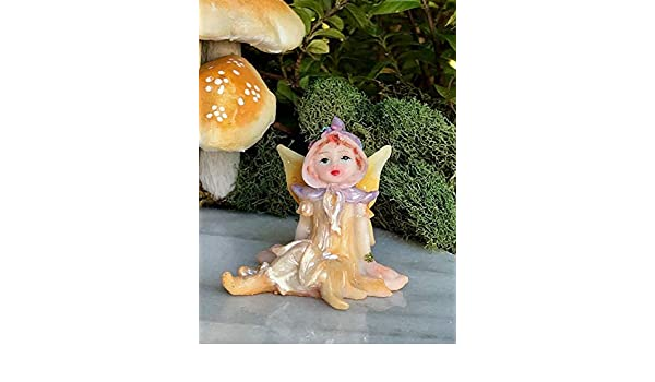 Miniature Dollhouse FAIRY GARDEN Figurine ~ Mini Sweet Purple PENNY Bonnet Girl