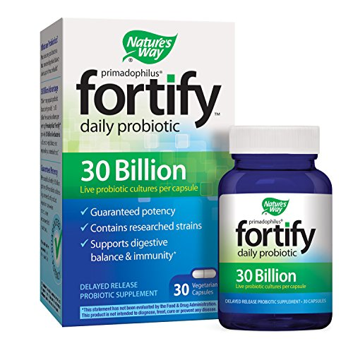 Primadophilus Fortify Daily Probiotic 30 Billion Capsules, 30 Count