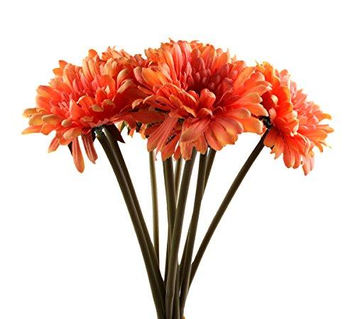 Sealike 10 Pcs Artificial Flower Big Daisy Chrysanthemum ...