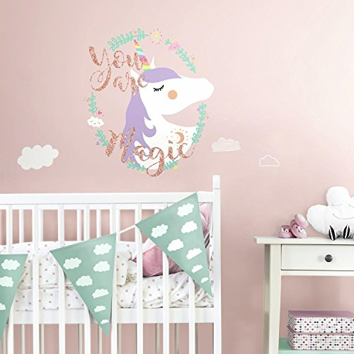 RoomMates Unicorn Magic Peel And Stick Giant Wall Decals