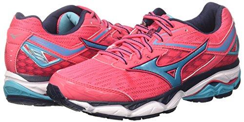 Ultima De Running Wave Rosa Para divapinkpeacockbluedressblues Mizuno 9 Wos Zapatillas Mujer 5XSSxY