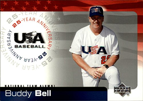 (2004 USA Baseball 25th Anniversary #12 Buddy Bell Baseball Card *)