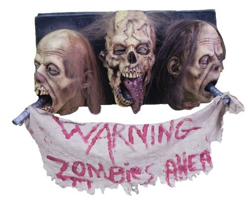 Zombie Wall Plaque 3 Faced by Halloween FX]()