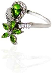 ring with zircon and peridot