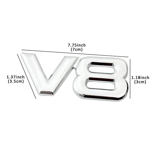 Amazon Com Eforcar V8 Car Sticker 3d Metal Chrome Car Decoration