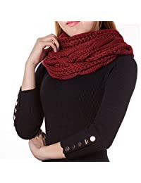 ATMOKO Infinity Scarf Thick Knit Scarf Winter Circle Loop Scarf Christmas Gifts