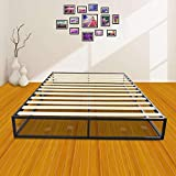Bonnlo Sturdy Bed Frame Mattress Foundation Platform Bed with Wood Slat Support, Queen
