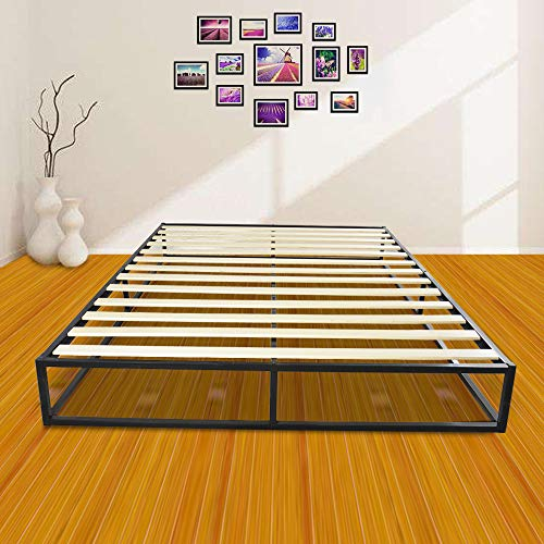Bonnlo Sturdy Bed Frame Mattress Foundation Platform Bed with Wood Slat Support, Queen by Bonnlo