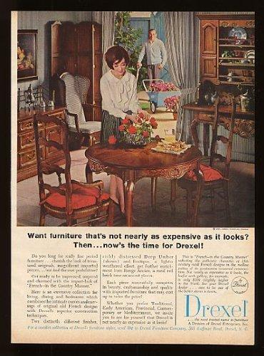 1965 Drexel Furniture French Dining Set Original Print Ad (7340) - Drexel Furniture