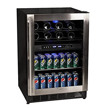 Magic Chef MCWBC77DZC 44-Bottle Stainless Dual Zone Wine & Beverage Cooler