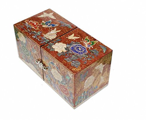 Jmcore Mother of Pearl Gold Color Peony Flower Design Jewelry Box Display Jewellry organizer by JMcore Jewelry Box