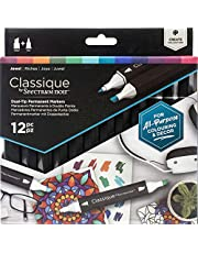 Spectrum Noir Classique Create Alcohol Marker Dual Nib Pens Set-Jewel-Pack of 12