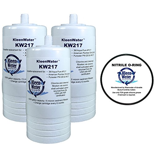 atible Filter (3), Aqua-Pure AP200 Water Filter System Replacement O-ring (1), by KleenWater (Pur Undersink Filter)