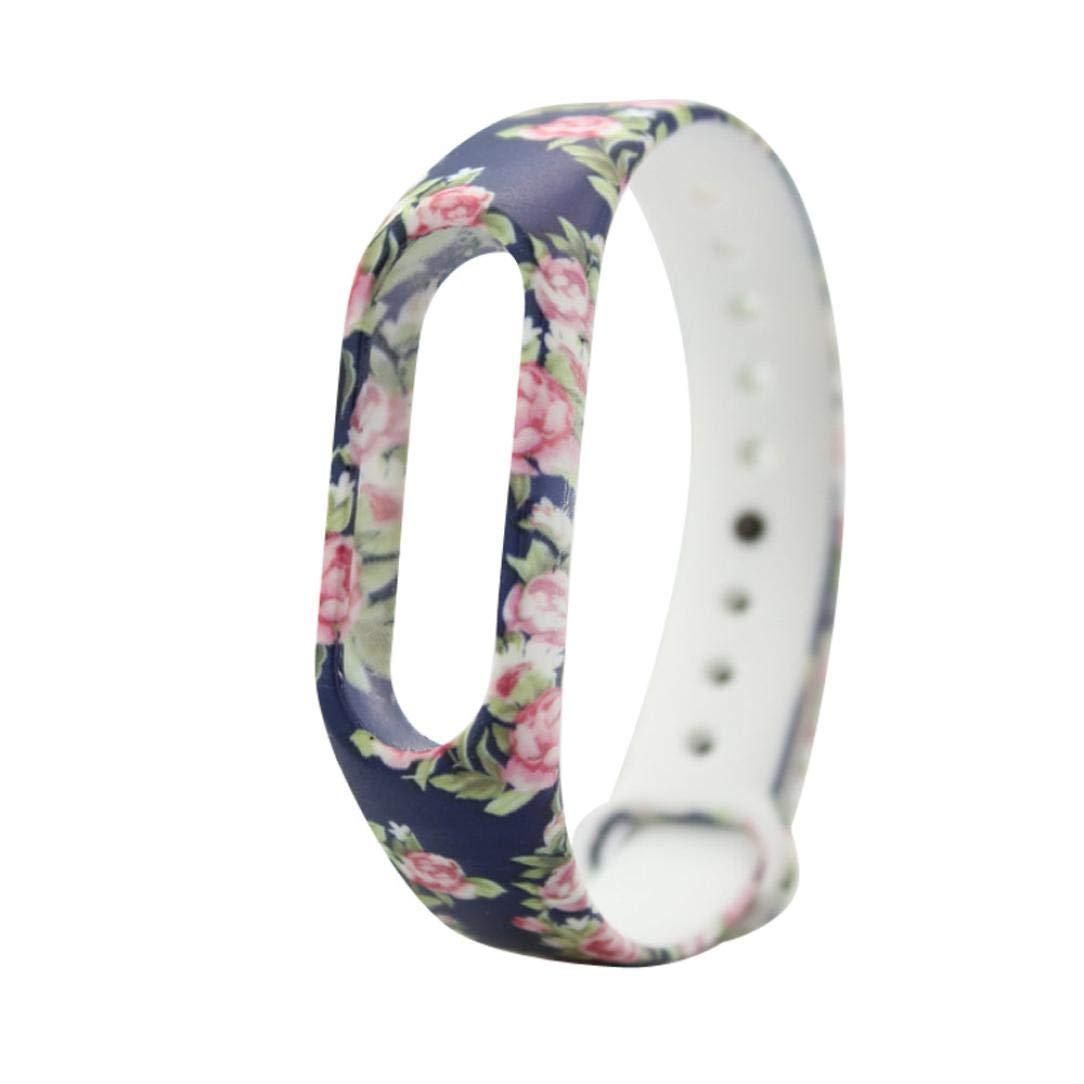 JiaMeng Fashion Correa de la Venda de la Pulsera del Gel de Silicona del reemplazo XIAOMI MI Band 2 Bracelet: Amazon.es: Ropa y accesorios