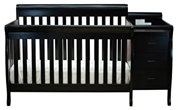 Crib And Changer Combo In Black Finish