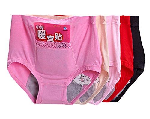 Qikafan Women Menstrual Period Leakproof Seamless Modal Panty (NK9824 Mixed 5 Pack)