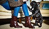 Per Fidem Womens Luisa Western Croc Brown Leather