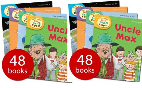 Oxford Read at Home Biff, Chip and Kipper Complete Phonics Collection - Levels 1-6; 48 Books