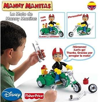 Disney Moto De Manny Manitas Mattel Amazon Es Juguetes Y Juegos