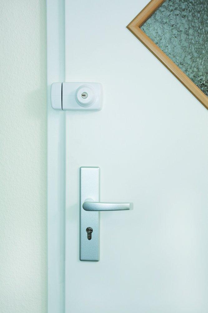 ABUS Tür-Zusatzschloss 7025 mit beidseitigem Zylinder, weiß, 53273 ...