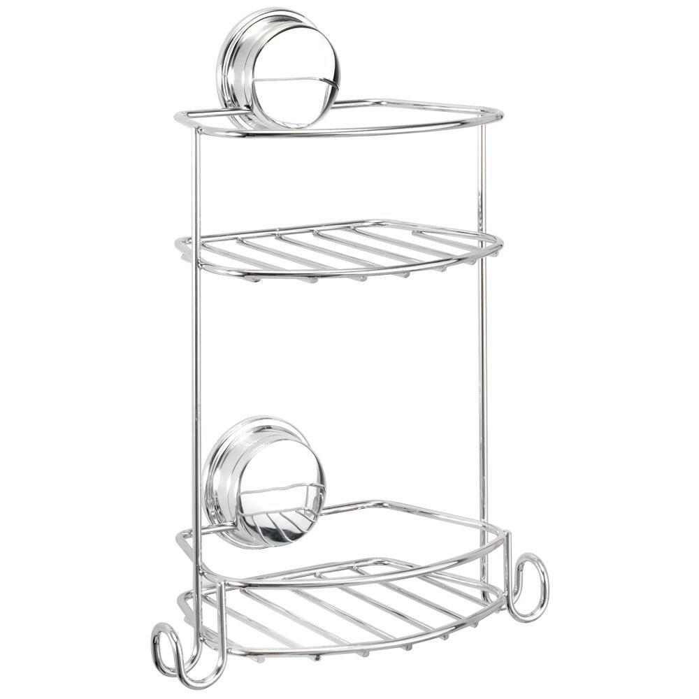 Tier basket shower caddy mild steel rust free stick n lock bathroom - Croydex Stick N Lock Compact 2 Tier Storage Basket Amazon Co Uk Kitchen Home