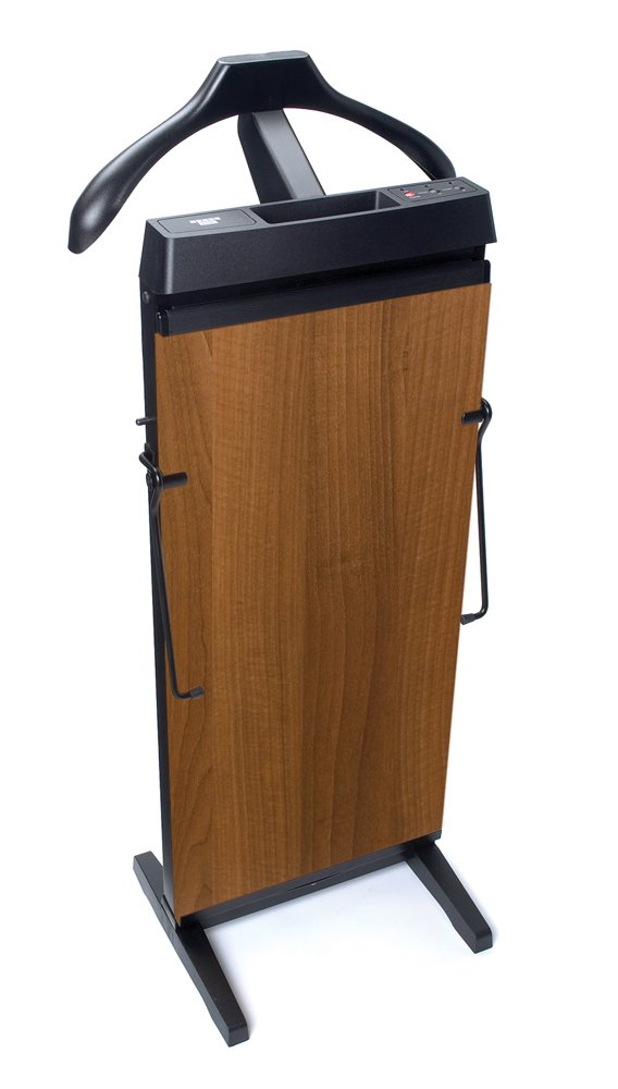 CORBY 4400 Trouser Press. 15 & 30 Minute Timer. Walnut Wood Effect Finish. 240 Volts / 230 Watts Great gift idea Ironing Ironing_Utility Valet Stand