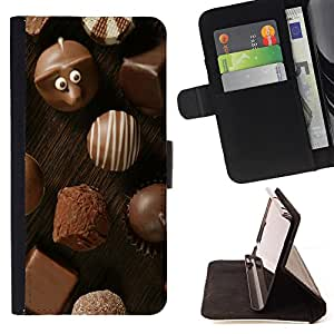 - Chocolate - - Style PU Leather Case Wallet Flip Stand Flap Closure Cover FOR Sony Xperia M2 - Devil Case -
