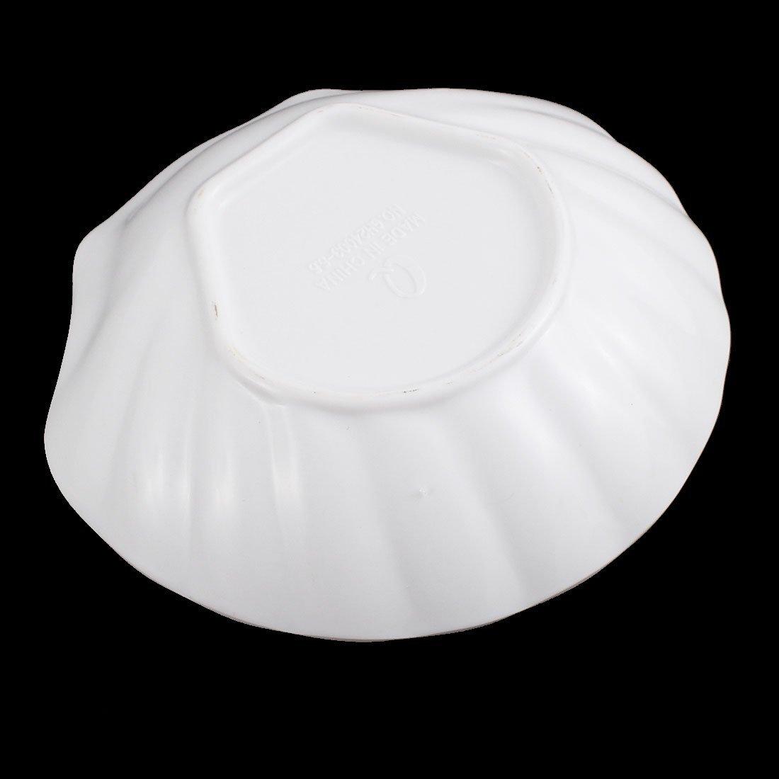 Amazon.com: eDealMax Seashell Diseño de soja salsa de acompañamiento Plato Plato 5, 5 pulgadas Longitud blanca: Kitchen & Dining