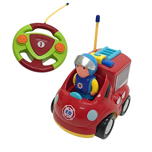 R/c Remote Radio Control (Cartoon R/C Race Car Radio Control Toy for Toddlers (Fire Truck))