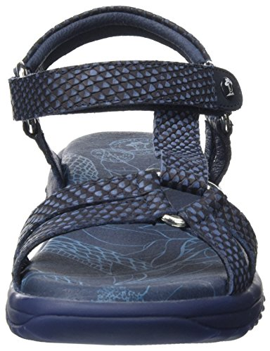 Neus Snake Sandalias Azul Jack Navy Panama Mujer 75qw8x6