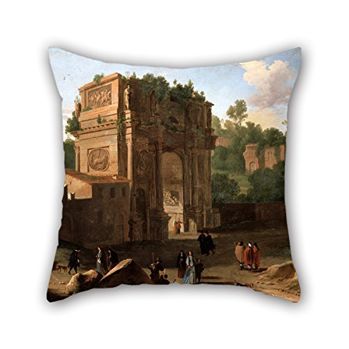 [pillow shams of oil painting Van Swanevelt, Herman - The Arch of Constantine, Rome 16 x 16 inches / 40 by 40 cm,best fit for study room,bench,him,couples,monther,christmas twice] (Emperor Constantine Costume)