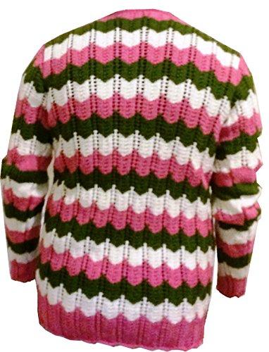 b13318abb84d Amazon.com  Unbranded Women s Handmade Cardigan Sweaters Traditional Knit  Designs (Chocolate