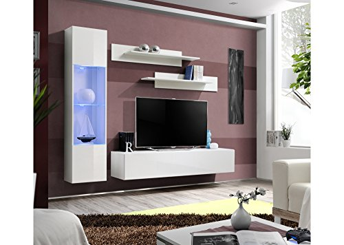 MyMeubleDeco - Meuble de salon TV suspendu TUFERA I, moderne, 260 ...