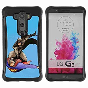 A-type Arte & diseño Anti-Slip Shockproof TPU Fundas Cover Cubre Case para LG G3 / D855 / D850 / D851 ( Bat Superheros )