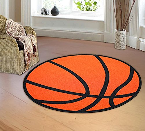 Furnishmyplace Basketball round Kids Rug Size 3'3