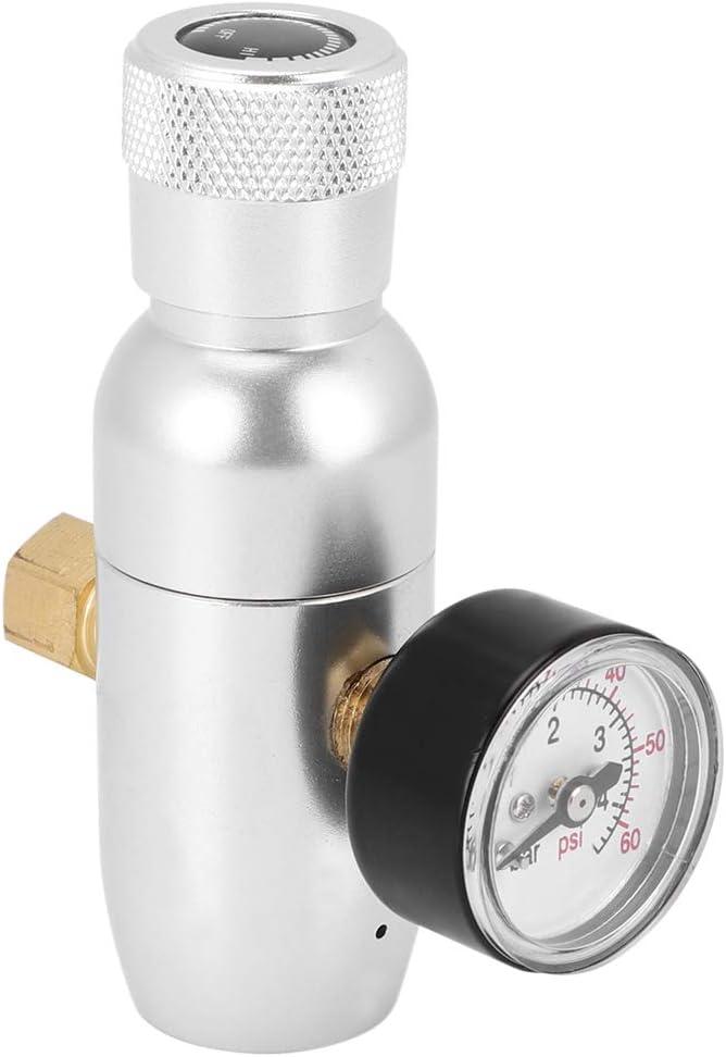 Cargador de barril de cerveza, mini dispensador de cerveza Kit de barril con regulador de CO2 Boquilla de manguera Accesorios de cerveza Dispensador de CO2 Desconector de gas de servicio pesado Home D