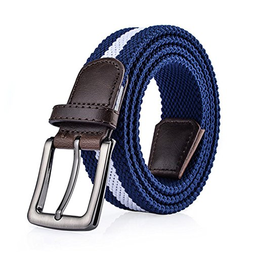 Eric Hug?Fashion Fashion Stripe Designer wide belts men elastique Canvas belt for Men's youth Wide belt jeans 105cm ()