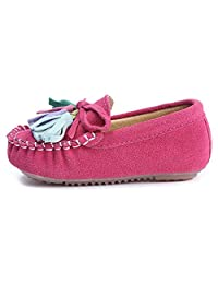 Bumud Kids Girl's Suede Moccasin Loafer Slippers (Toddler/Little Kid)