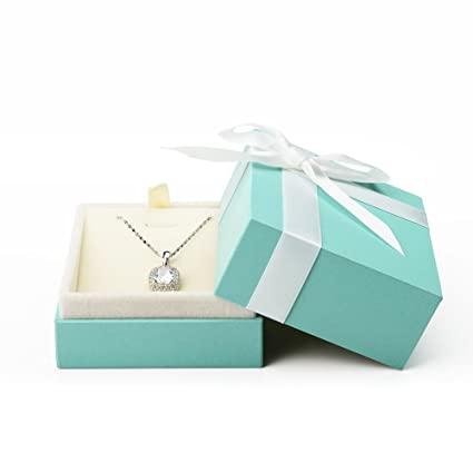 Oirlv Velvet Pendant Necklace Gift Box Long Chain Display Case