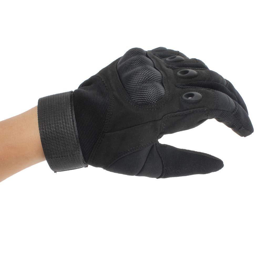 GES Guantes de moto Negro, XL Hombres Guantes de motocicleta de dedo completo Pantalla t/áctil ATV Montar Motocross Racing Guantes