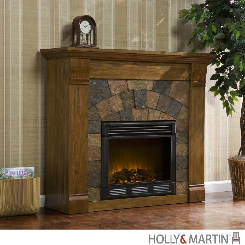 Antique Oak Electric Fireplace (Holly & Martin Underwood Electric Fireplace)