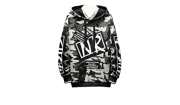 Bravepe Men Letters Print Long Sleeve Casual Sport Color Block Pullover Hooded Hoodie Sweatshirt