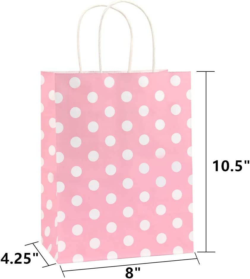 cherry ribbon Wrap bag pink with white dots coated cotton nappy bag