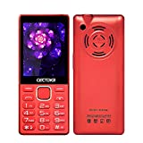 Cectdigi 216i Keyboard Mobile Phone,Elder Senior Used,2.4inch Display Loud Speaker,FM Radio,Bluetooth,GSM Network (Red)