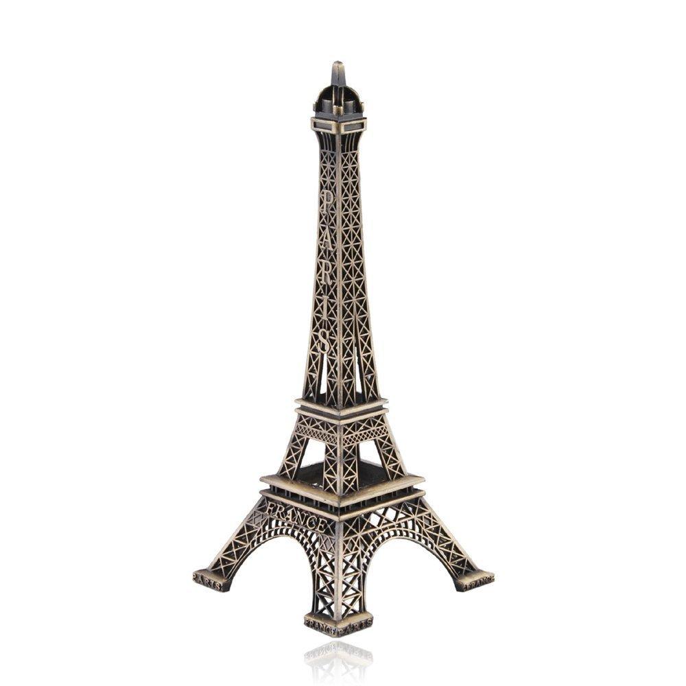 paaiter 15cm París Eiffel Torre Artesanía Arte Estatua modelo Desk decoración de habitación regalo, Bronce