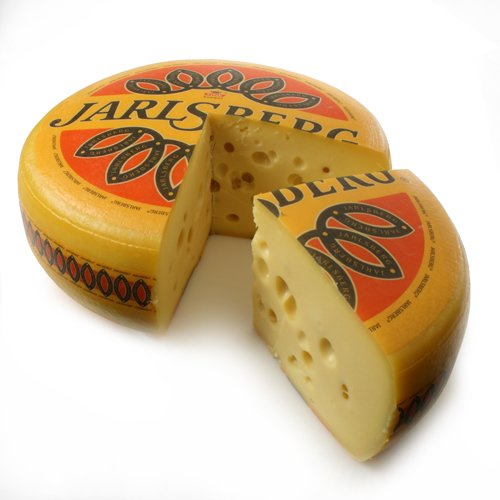 igourmet Jarlsberg (R) Cheese - Pound Cut (15.5 ounce) - Jarlsberg Wheel