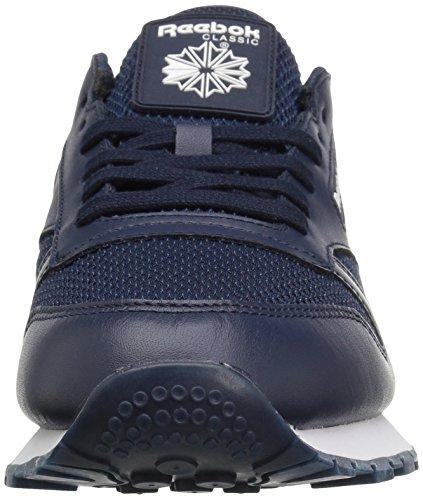 Reebok Heren Klassieke Lederen Nm Mode Sneaker Collegiale Marine / Wit / Zwart Gum