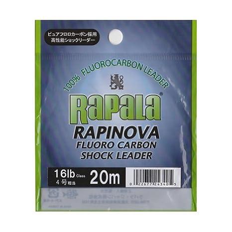 ラパラ(Rapala)ショックリーダーラピノヴァフロロカーボン20m4.0号16lbクリアRFL20M16の画像